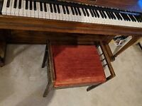 Lovely wooden upholstered piano stool with STORAGE