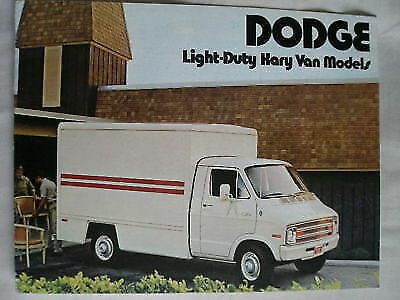 Dodge Light Duty Kary Van Models brochure Feb 1974