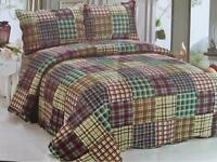 Quilt Sets 3pc Queen with 2 Pillow Shams New 50% OFF