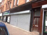 Double front shop for Rent Shettleston Road Avail Now