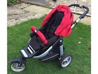 Teutonia S3 spirit. 3 wheel off road buggy. Excellent condition. Carry cot and rain covers included.