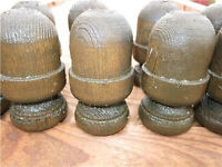 "10 x 3"" wooden acorn top garden fencing post cap decorative finial *COLLECTION OR POST*"