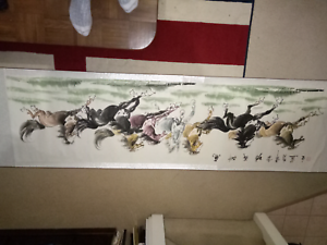 Chinese  painting  of horses Runcorn Brisbane South West Preview