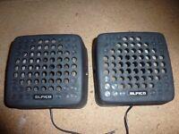 two car radio speakers £10