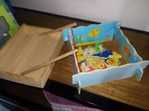 Wooden Magnetic Fishing Game Tank With 2 Rods New Farm Brisbane North East Preview