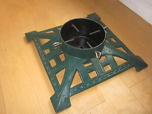 "BEAUTIFUL HD CAST IRON VICTORIAN TREE STAND, TRUNK UP TO 7-1/2""D"