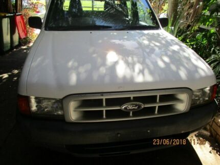 2002 Ford Courier PE GL Crew Cab White 5 Speed Manual Dual Cab Beenleigh Logan Area Preview