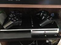 PS3 Excellent condition, with 2 joysticks - with 5 games