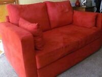 Red Metal Action Sofa Bed