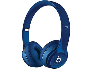 AS- IS Beats Solo2 Wired On-Ear Headphones - Blue