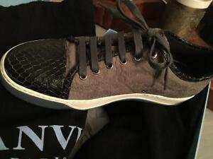 Lanvin Sneakers with Python trim