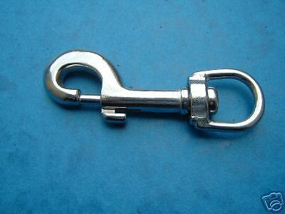 70mm Swivel Eye Trigger Hook, Snap Hook Stainless Steel 316  FREE POST