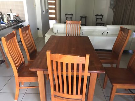 Timber Table And 6 Chairs