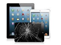 iPad 4,3,2,1, iPad air or iPad mini glass screen LCD repairs