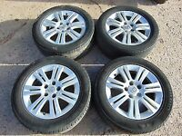 Genuine Vauxhall 16 Inch Alloy Wheels & Tyres 5 Stud 5x110 PCD Astra Vectra Zafira Signum