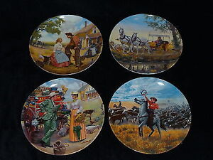 All 4 Oklahoma from The Musical collector plates