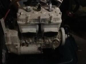 Two 587cc engines, and a pump for sale