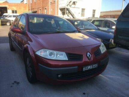 2008 Renault Megane X84 Expression Red 4 Speed Automatic Sedan