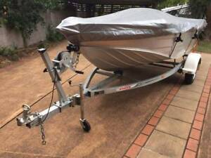4 m Stacer tinny, mercury motor, trailer,  Rego, canvas, box Toowoomba Toowoomba City Preview
