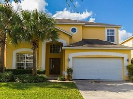 Luxury 7 Bed/Pool/Spa/Games rm overlooks water on Gated Resort with shuttle service Disney Florida