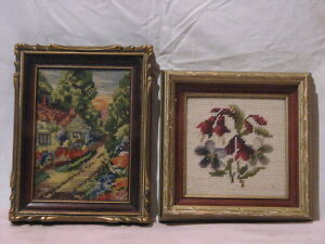2 pieces of Vintage Needle Point Art work Peterborough Peterborough Area image 2