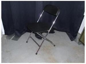 Chaise pliante noir et chrome