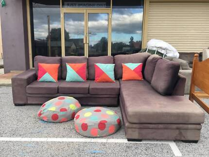 DELIVERY TODAY COMFORT MODERN L shape corner sofa lounge SALE NOW