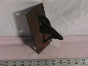 Early blacksmith made locking door latch