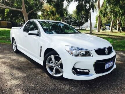 2015 Holden Ute VF II SV6 White 6 Speed Automatic Utility