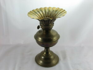 Vintage Brass Coal Oil Lamp