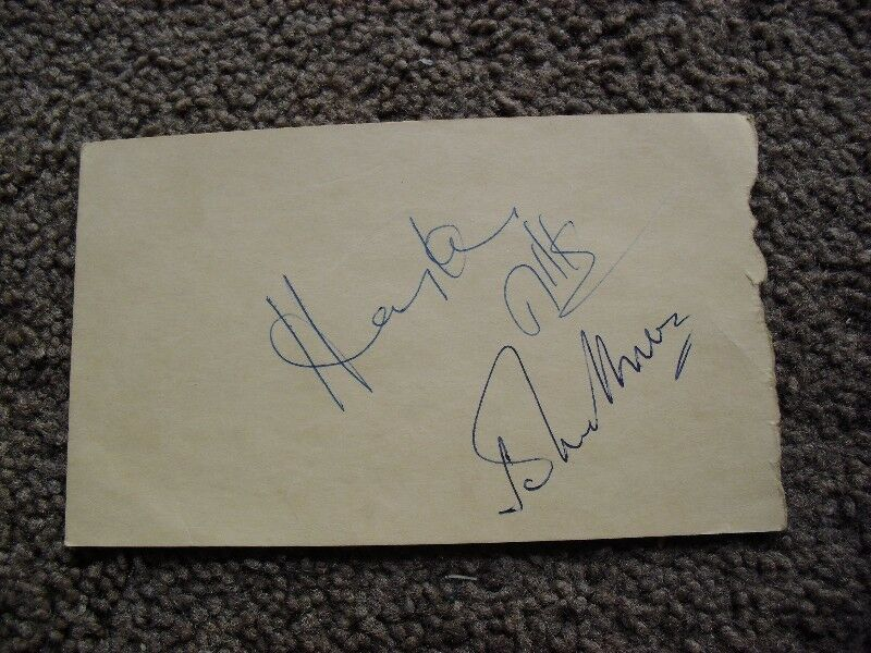 Autographs of the famous Hayley Mills and John Mills $50