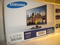 """Samsung 22"""" Full hd 1080P LED TV with Freeview HD"""