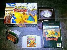 Bargain!!! Pokemon Stadium N64 boxed with transfer pack and manuals