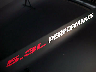 5.3L PERFORMANCE (pair) Hood sticker decals emblem Chevy Silverado GMC Sierra