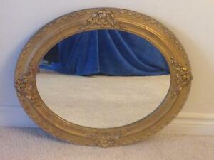 Antique Gold Wood Frame Mirror