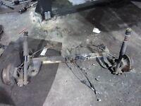 SUZUKI SWIFT 2005-2009 REAR AXLE BEAM COMPLETE DRUMS WITH ABS