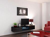 Vigo LED Glass Floating TV Entertainment Unit 180cm High Gloss Fronts-