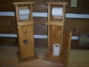 Decorative Out House Toilet Paper Holder
