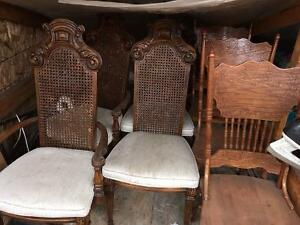 Oak Chairs - 2 sets