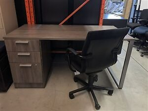 Sales Desk with Attached Pedestal - Brand New - $375.00