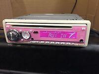 JVC KD-SC401 pink CD CD-R MP3 WMA AUX CD PLAYER
