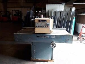 AMADA DB 610 24 IN WIDE DRY SHEET METAL DEBURRING AND GRAINING MACHINE