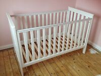 Mothercare Jamestown White cot bed