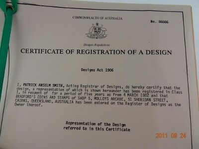 Certificate Of Registration Of A Design