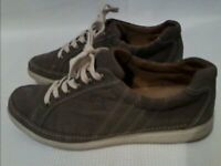 Gabor Womens Comfort Brown Leather Trainers UK Size 8
