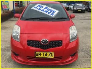 2006 Toyota Yaris NCP91R YRX Red 4 Speed Automatic Hatchback