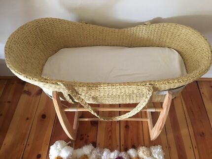 Pure organic nature baby Moses basket bassinet