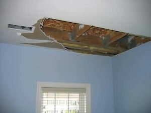 DRYWALL REPAIR- WATER DAMAGE LEAK // PATCH HOLE & PAINT