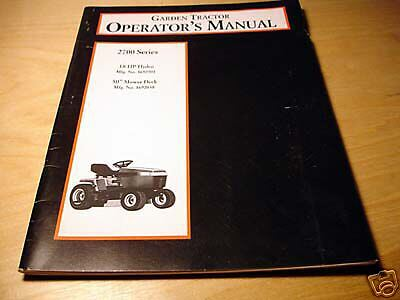 Massey Ferguson 2700 Garden Tractor Operators Manual Mf