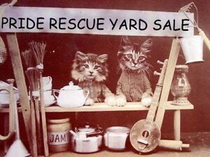 PRIDE RESCUE Charity Yard Garage Sale Fundraiser Sat, Aug 27